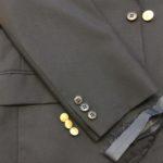 スーツジャケット袖丈お直し&ボタン取り替え 背広